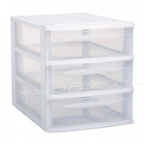 Organizer A4 plastikowa szafka modułowa 3 szuflady duże czarna lub biała