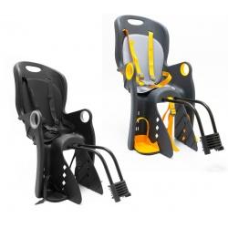 Fotelik rowerowy montowany na ramę lub na bagażnik różne kolory 5 punktowe pasy