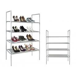 Półka stojak organizer regał metalowy z półkami na buty obuwie 12 par