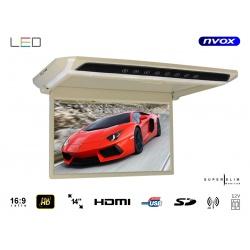 Monitor podwieszany z matrycą LED o przekątnej 14 cali multimedialny odtwarzacz plików SD USB IR