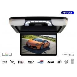 Monitor podwieszany 14 cali napęd z DVD odtwarzacz SD USB transmiter FM IR