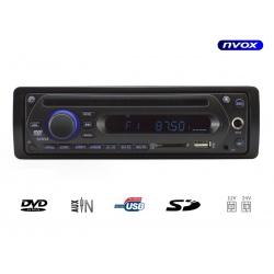 Radio samochodowe z napędem DVD marki NVOX wyposażone w czytnik SD zasilanie 12/24 wejście na mikrofon