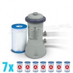 Pompa filtrująca do basenów 2006L/h INTEX 28604 / 29000 + 7 filtrów