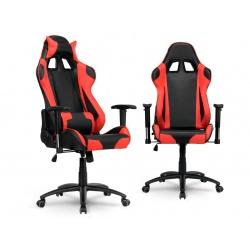 Fotel biurowy styl kubełkowy rozkładany gamingowy do pracy i do grania regulowane podłokietniki