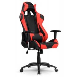 Fotel biurowy styl kubełkowy rozkładany gamingowy do pracy grania czerwony