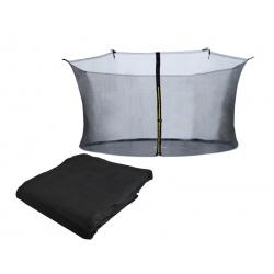 Siatka wewnętrzna 10 ft 305-312cm 6 słupków ochronna do trampoliny ogrodowej
