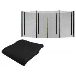 Siatka zewnętrzna 396-404 cm 13ft 8 słupków ochronna do trampoliny ogrodowej