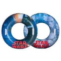 Dmuchane koło do pływania z uchwytami Star Wars średnica 91cm Bestway 91203
