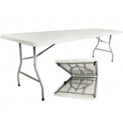 Rozkładany stół cateringowy 240 x 75 x 73,5 cm wygodne przenoszenie turystyczny