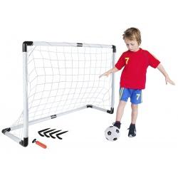Duża bramka treningowa piłkarska zestaw 2w1 piłka do strzelania