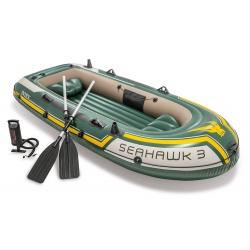 Ponton 3-osobowy INTEX Seahawk 3 Set, 295 x 137 x 43 cm z pompką i wiosłami
