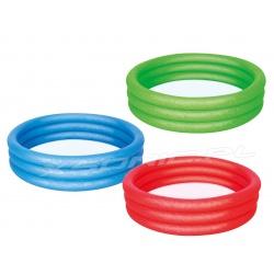Mały basen dmuchany dla dzieci 102 x 25 cm 3 kolory Bestway 51024