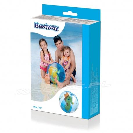 Dmuchana piłka plażowa 51 cm Konik i Papuga Bestway 31041