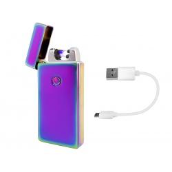 Zapalniczka PLAZMOWA elektryczna ładowana na USB 2 łuki bezogniowa zamykana