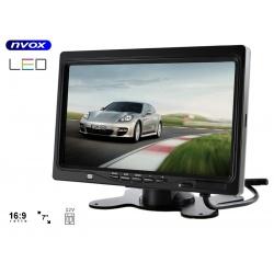Monitor samochodowy HD LCD przekątna 7 cali NVOX automatyczne uruchomienie ramka do montażu w zagłówku