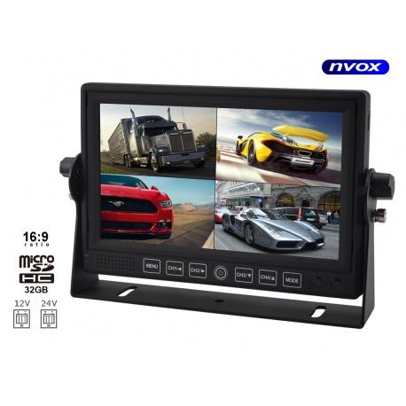 Inteligentny Monitor LCD do kamer cofania funkcja nagrywania obrazu monitoringu GS98
