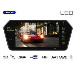 Lusterko samochodowe ekran 7 cali 2 x AV automatyczne włączenie odtwarzacz