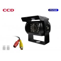 Metalowa kamera cofania z daszkiem na naczepę NVOX na tył pojazdu diody LED przetwornik obrazu SONY kolorowa