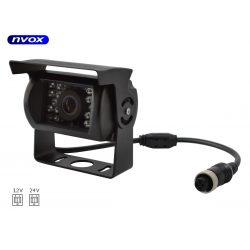 Kamera cofania marki NVOX z przewodwem 4PinQuad zasilanie i sygnał wideo doprowadzone w jednym