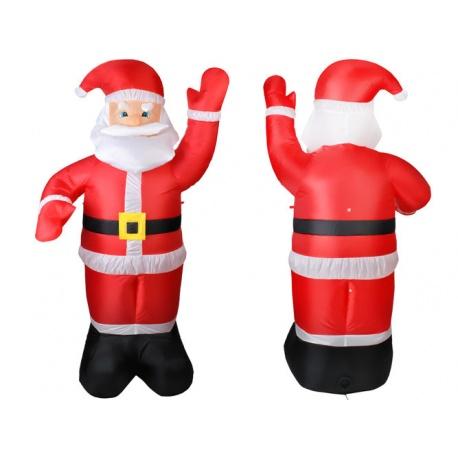Mikołaj dmuchany 180cm podświetlany samopompujący śledzie linki