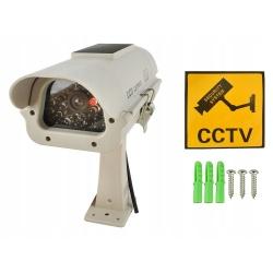 Atrapa kamery do monitoringu CCTV solarna migająca dioda Led kamera IR