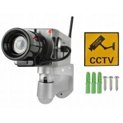 Ruchoma atrapa kamery do monitoringu CCTV kamera z czujnikiem ruchu Led