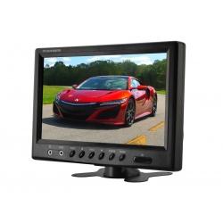 Monitor samochodowy LCD o przekątnej 9 cali do zabudowy z ramką montażową