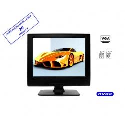 Monitor wolnostojący LCD o przekątnej 12 cali z HDMI złącze komputerowe PC VGA