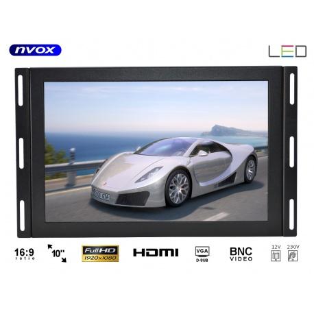Monitor do zabudowy typu OPEN FRAME 10 cali Digital LED FULL HD VGA HDMI metalowa obudowa