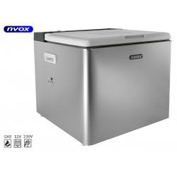 Samochodowa lodówka z agregatem i termostatem NVOX o pojemności 42L 12V 230V GAZ do kampera na kemping