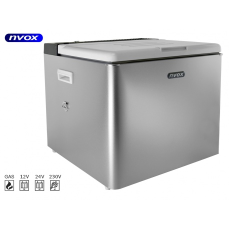 Samochodowa lodówka z agregatem i termostatem NVOX o pojemności 42L 12V 24V 230V GAZ
