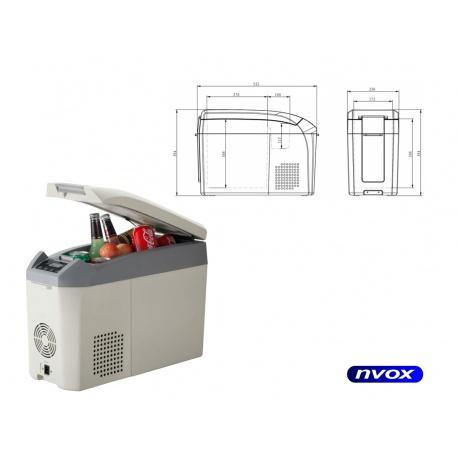 Samochodowa lodówka NVOX zamrażarka sprężarkowa pojemność 18L z kompresorem 12V 24V