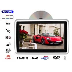 Przenośny odtwarzacz samochodowy montowany na prętach zagłówka NVOX 10 cali TFT LCD HD SD USB napęd DVD nad