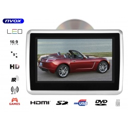 """Przenośny odtwarzacz samochodowy na pręty zagłówka 9"""" HD SD USB napęd DVD IR FM"""