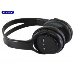 Słuchawki bezprzewodowe Bluetooth marki NVOX przyciski do kontroli odtwarzanej muzyki