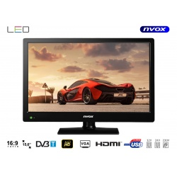"""Telewizor 15,6"""" do samochodu i domu na łódzie LED tuner DVB-T wejście USB HDMI"""