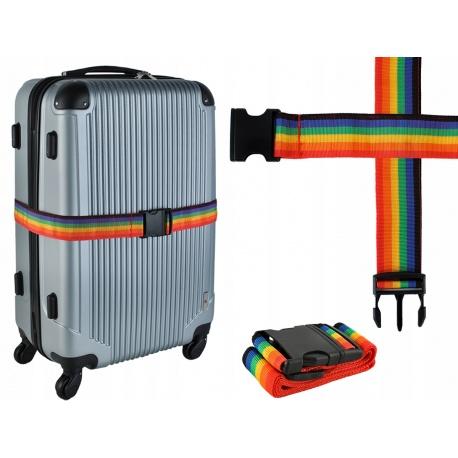 Pas transportowy na bagaż zabezpieczenie walizki regulowana długość