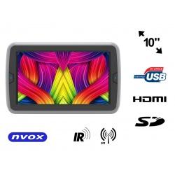 Przenośny odtwarzacz DVD montowany na zagłówku NVOX 10 cali TFT LED HDMI HD SD USB nadajnik IR FM