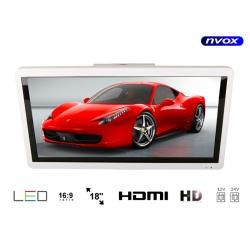 Monitor podwieszany naścienny do busa autokaru z matrycą LED o przekątnej 18.5 cali marki NVOX HDMI dwa wejścia AV