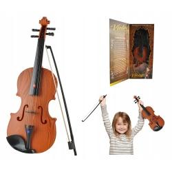 Skrzypce ze smyczkiem melodie światło LED skrzypki dla dzieci