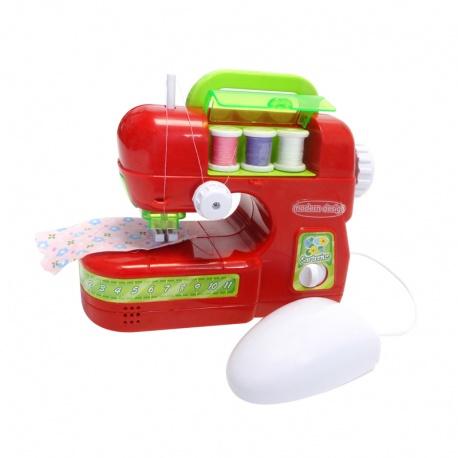 Maszyna do szycia dla dzieci krawiec nici na batrerie szyje jak prawdziwa