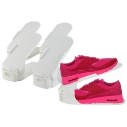5 x organizer uchwyt na buty obuwie półka do szafy biały czarny parę butów