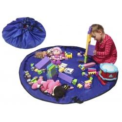 Worek na zabawki mata do zabawy pojemnik na klocki wyznaczone miejsce