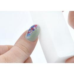 Polerka pilnik blok bloczek polerski pilniczek do paznokci biały prostopadłościan