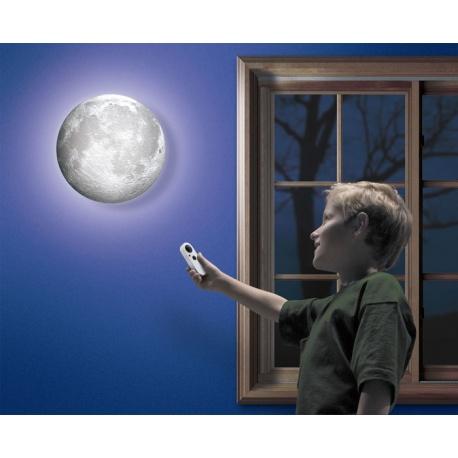 Lampka księżyc w pokoju światło księżyca lampka ze ściemniaczem na pilota