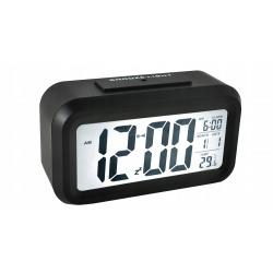 Budzik zegar cyfrowy duży wyświetlacz LED 12/24h termometr datownik