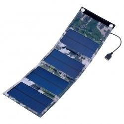 Elastyczna ładowarka solarna POWER NEED rozkładana 490 x 155 x 2 mm 6W 5V leśne maskowanie