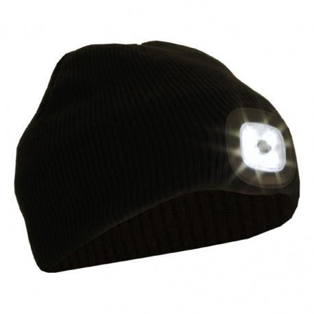 Czapka z latarką czołową LED 50 lumenów BB04B GLOVii na akumulator