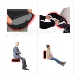 Ogrzewana mufka grzejąca ogrzewacz rąk grzejące rękawiczki do wózka GF41 Glovii