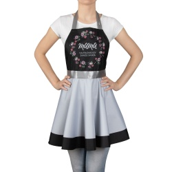 Nitly dla Mamy fartuszek kuchenny sukienka Mama to najtrudniejszy zawód świata